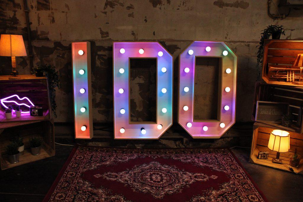 I DO bruiloft licht letters