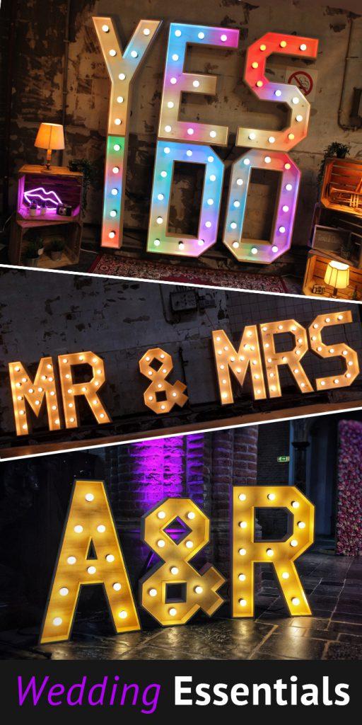 Wedding Essentials XL Licht Letters