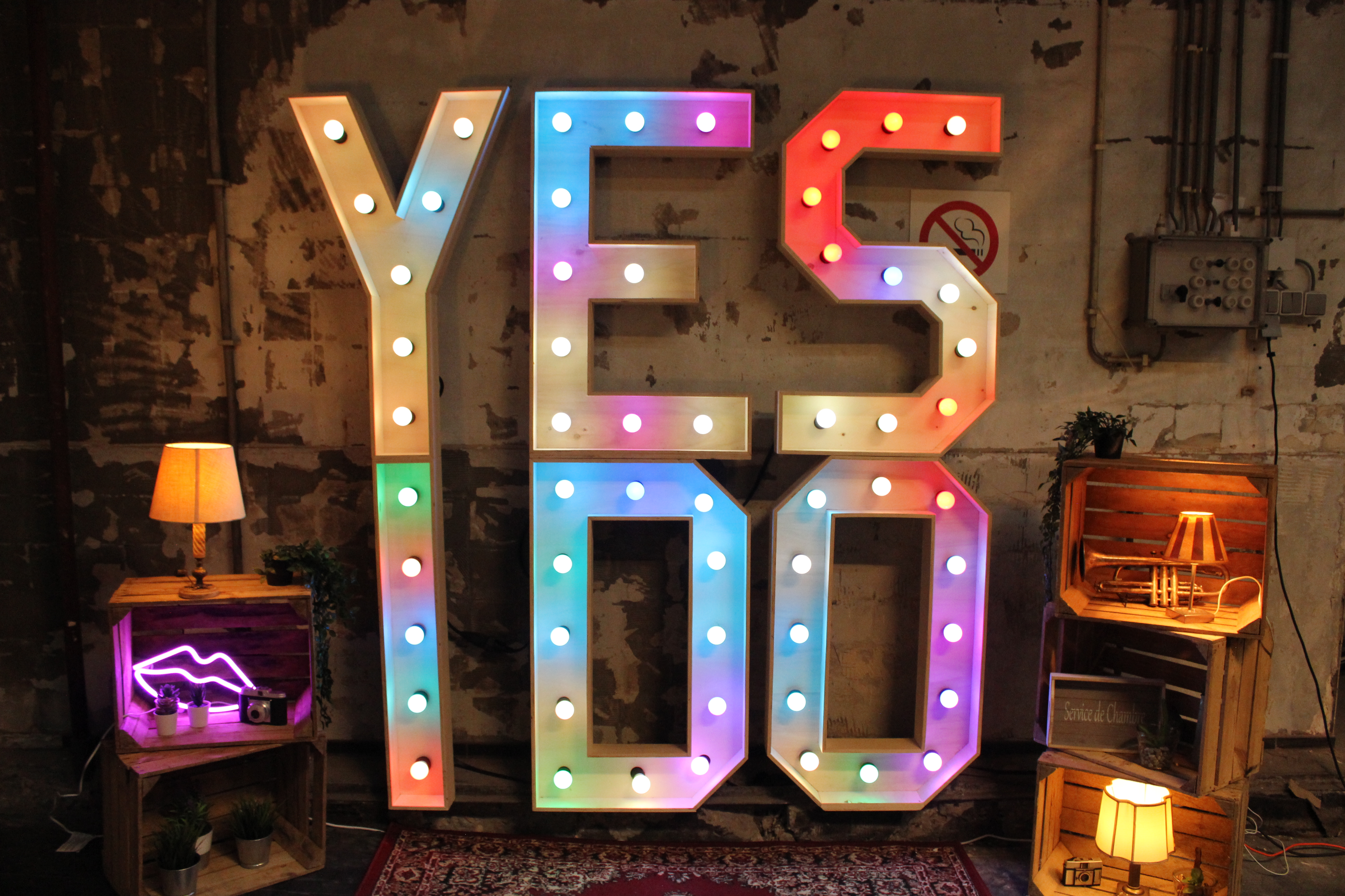 Yes I DO Licht letters