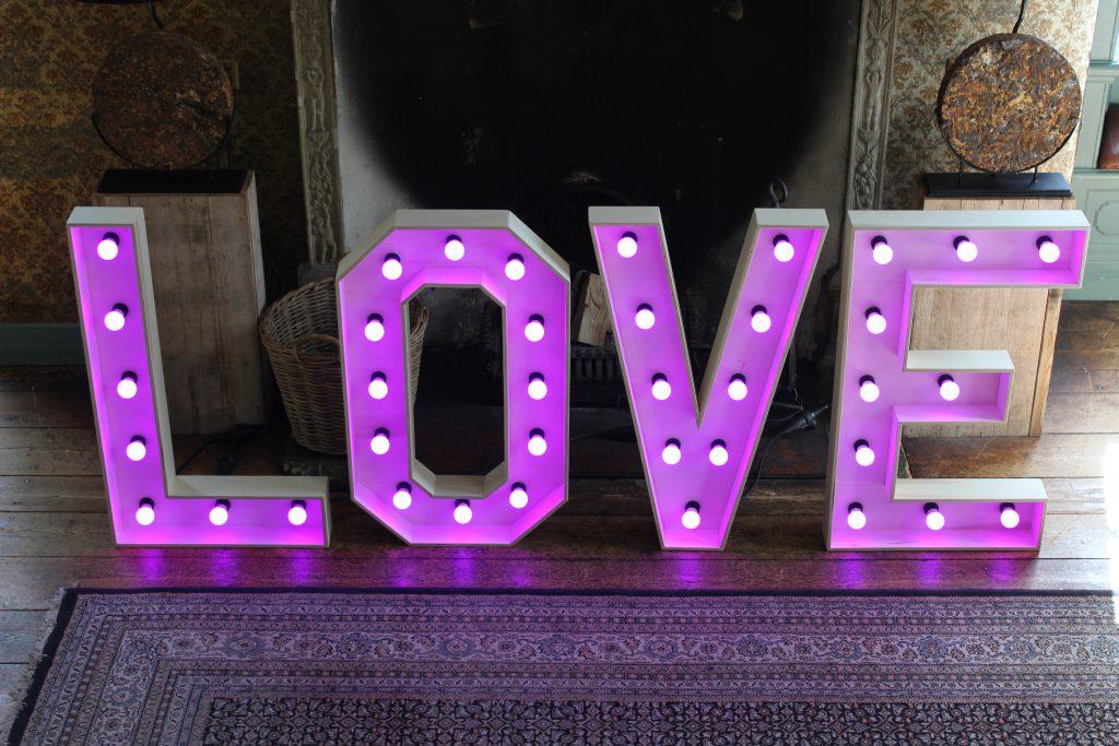 Bruiloft Lichtletters
