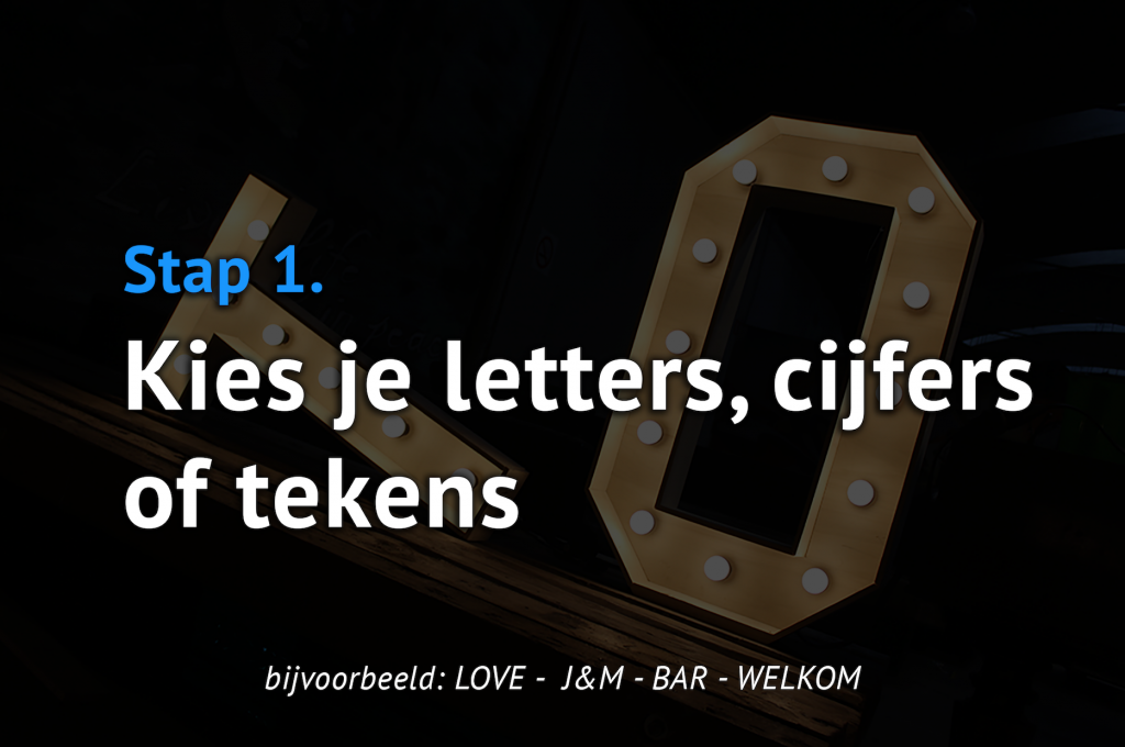 Stap 1 - letters