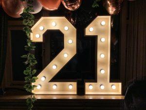 Lichtletters 21 huren