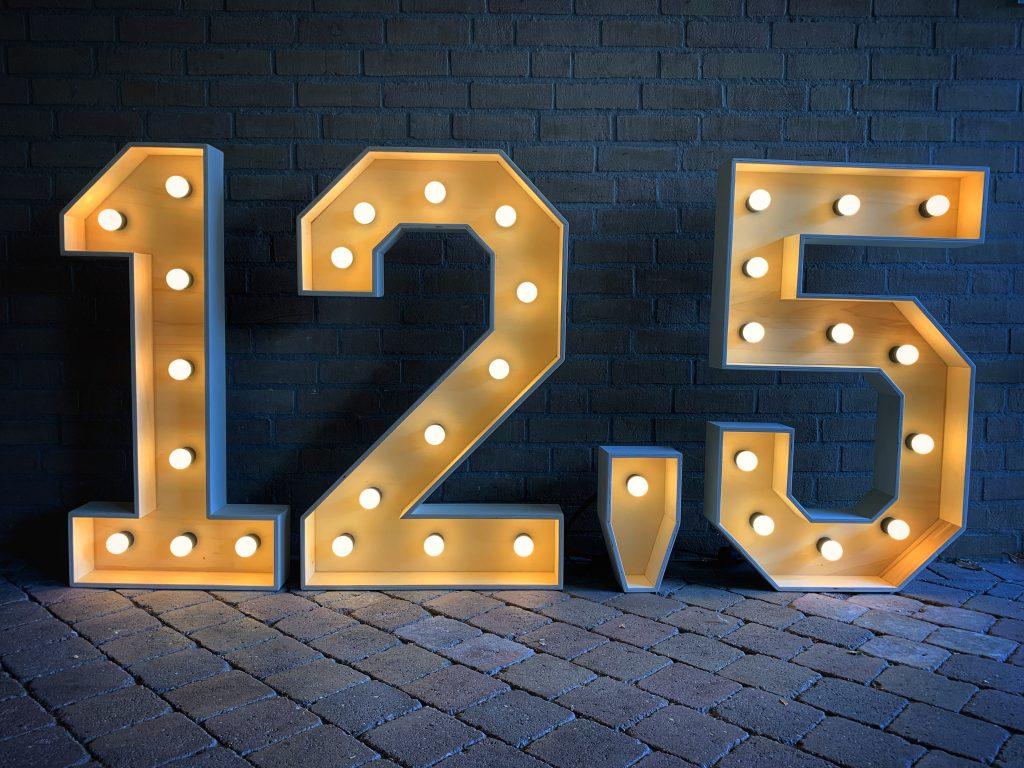 Lichtcijfer 12,5 jaar